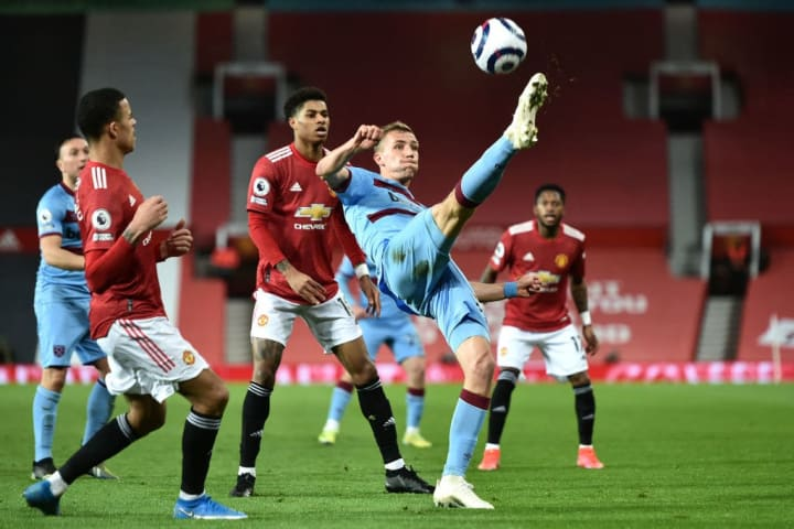 Tomas Soucek produced another all-action display for West Ham and Manchester United