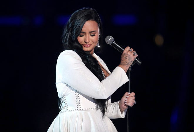 """Demi Lovato debuted her emotional ballad """"Anyone"""" at the Grammys last year. She recorded the song just four days before her 2018 overdose."""