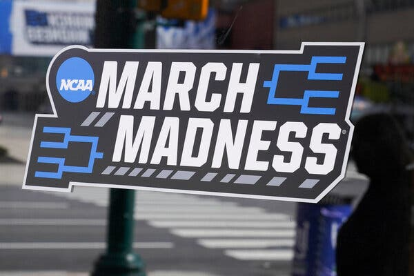 Indianapolis is filled with March Madness logos this week.