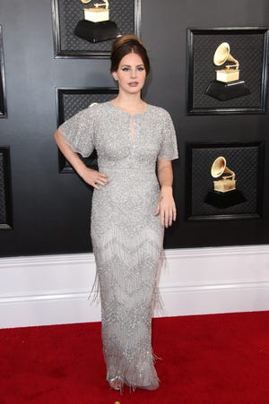 Lana Del Rey arrives on the red carpet during the 62nd annual GRAMMY Awards on Jan. 26, 2020 at the STAPLES Center in Los Angeles, Calif.